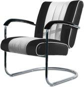 Bel Air Retro Loungestoel LC-01 Zwart