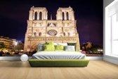 Notre Dame bij nacht Fotobehang 380x265