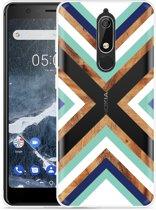Nokia 5.1 Hoesje Wood Art