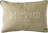 Riviera Maison Cafe Floral Reserved Pillow Cover- Kussenhoes - 65x45 cm - Flax/Black