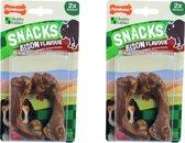 Nylabone gezonde harde snack med bison 2st per 2 verpakkingen