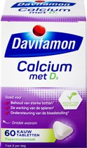 Davitamon - Calcium + vitamine D - mint  - 60 stuks