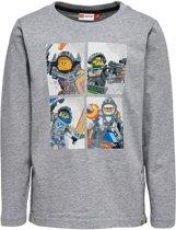 Jongens grijze tshirt Nexo knights Legowear - Maat 116