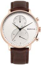 BERING 13242-564 - Horloge - Leer - Zilverkleurig - 42 mm