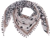 Kywi-Shawl star and words Roze Taupe