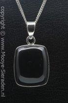 Zilveren Onyx edelsteen ketting hanger