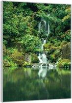 Plexiglas –Waterval in de Jungle– 80x120cm (Wanddecoratie op Plexiglas)