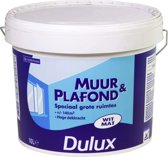 Dulux Muur- & Plafondverf - Wit - Mat - 10 liter