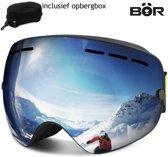Gepolariseerde Skibril - Snowboardbril - Anti condens & UV protected - Ski/Snowboard bril - incl. harde opbergbox