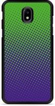 Galaxy J5 2017 Hardcase Hoesje lime paarse cirkels