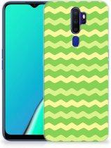 TPU bumper OPPO A5 2020 Waves Green
