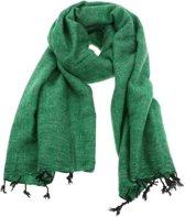 MoreThanHip Pina - brede 'yakwol' sjaal of omslagdoek van – groen