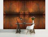 Fotobehang Landelijk | Bruin, Oranje | 152,5x104cm