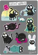 Moses magneten - Ed the Cat , cat at work - 9 stuks