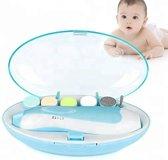 Elektrische Baby nagelknipper nagelvijl nageltrimmer nagelsetje - veilig en zacht - voor baby en volwassenen - ultra stil (slapend knippen) - draadloos - Blauw