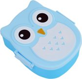 Lovely Kids™ Lunchbox - broodtrommel - met lepel - blauw - KLKN®