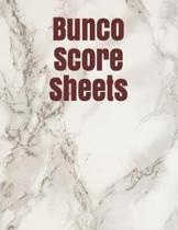 Bunco Score Sheets