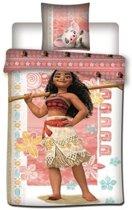Disney Vaiana - Dekbedovertrek - Eenpersoons - 140x200 cm  - Roze