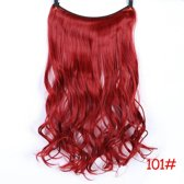 Loose wave Flip in synthetisch hairextensions 55 cm in kleur Rood 100 gram