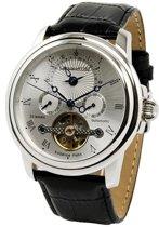 Calvaneo 1583 Calvaneo Evidence Platinum Silverbrushed - Horloge - 44 mm - Automatisch uurwerk