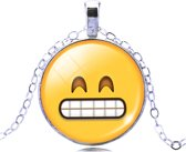 Emoji ketting tanden op elkaar