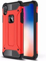 Mobiq - Rugged Armor Case iPhone XR rood