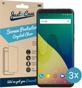 Just in Case Screen Protector Wiko View XL - Crystal Clear - 3 stuks