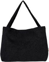 Studio Noos Luiertas All Black Rib Mom Bag Zwart