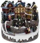 Kerstdorp met Kersthuisjes - met verlichting en beweging