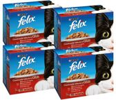 FELIX Pouch - Vlees - Kattenvoer - 4 x (12 x 100) g