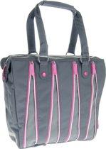 Fastrider Zipper Shopper - Fietstas / Shopper - 16 l - Grijs;Roze