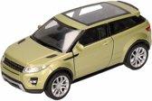 Speelgoed groene Land/Range Rover Evoque auto 1:36 - modelauto / auto schaalmodel