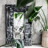 Spiegel Handgemaakt met Houten Lijst | Spiegel Rockwash