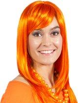 Pruik Lang - Oranje