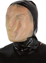 LateX – Latex Vacuüm Masker Gelijmd met Vergroot Zichtveld en Kleine Ademhalings Gat - One Size - Zwart