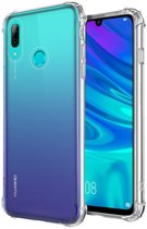 Huawei P Smart Plus (2019) Siliconen Hoesje - Extra Stevige Randen - Shock Proof Case - Transparant