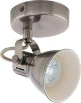 EGLO Seras - LED spot - 1-Lichts - 3,3W - nikkel-antiek/creme