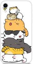 iPhone XR (6,1 inch) - hoes, cover, case - TPU - Spelende katten