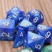 7 Polydice Set Blauw