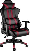 TecTake Gaming chair - bureaustoel Premium racing zwart rood - 402232