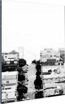 San Francisco zwart-wit Aluminium 40x60 cm - Foto print op Aluminium (metaal wanddecoratie)