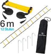 #DoYourFitness - Speed ladder »Callustus« - Fitness / loop ladder - 4m / 6m / 8m - Agility ladder voor mobiliteit en snelheidstrainig - 6m geel/zwart