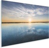 De zon zorgt voor een kleurrijke hemel Plexiglas 30x20 cm - klein - Foto print op Glas (Plexiglas wanddecoratie)