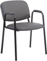 Clp Ken Pro - Bezoekersstoel - Kunstleer - Grijs