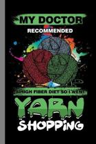 Yarn Shopping: Shopaholic Gift For Shoppers (6''x9'') Dot Grid Notebook To Write In