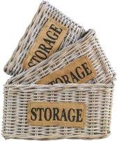 HSM Collection Mandenset Storage - white wash - rotan - s/3