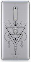 Nokia 5 Hoesje Abstract Moon Black