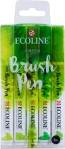 "Talens Ecoline 5 brush pens ""Green"""