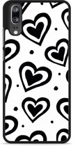 Huawei P20 Hardcase Hoesje Watercolor Hearts