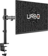 Urbo Viaan Ergonomische Monitor Arm | Full-Movement | Ruimte voor kabels | VESA 75/100 | schermen tot 68.6 cm (27 inch)  | Installatie met klem of zeilring | Op kantoor, thuis en gedeelde werkplekken